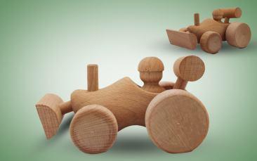 Holzspielzeug Bagger Stück