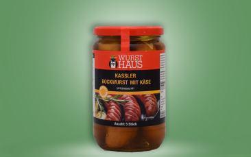 Kassler-Bockwurst mit Käse im Glas 650g