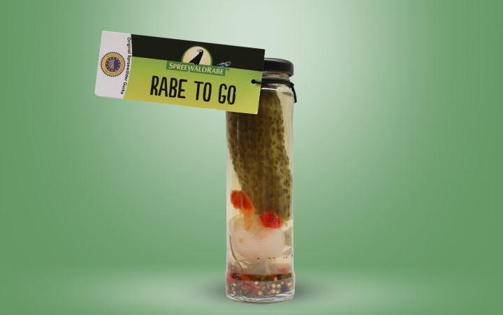RABE -TO GO- Eine Spreewaldgurke im Glas 55g