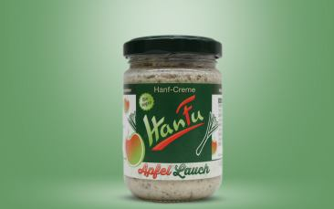 HanFu Bio-Hanf-Creme Apfel Lauch Glas 145g