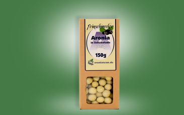 Aroniabeeren in weißer Schokolade