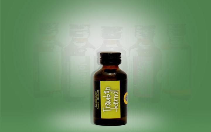 Traubenkernöl Flasche