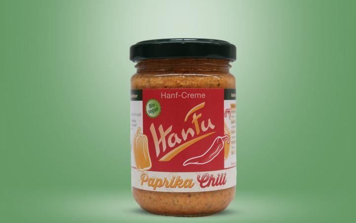 HanFu Bio-Hanf-Creme Paprika Chili Glas 145g