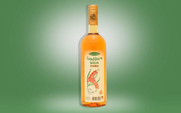 Sanddornwein trocken Flasche 0,75l