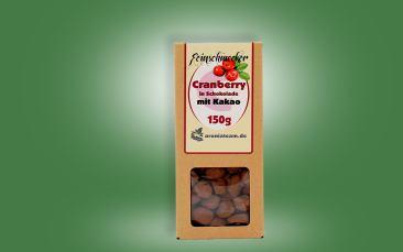 Cranberry in Schokolade 150g (mit Kakao)
