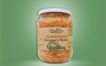 Bio-Gemüsesalat-Weißkohl & Möhren Glas 680g