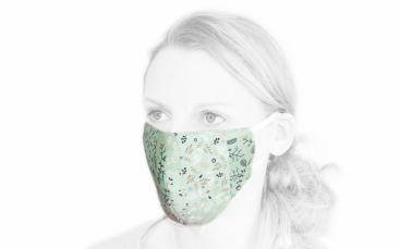 Baumwoll-Behelfs-Maske grün