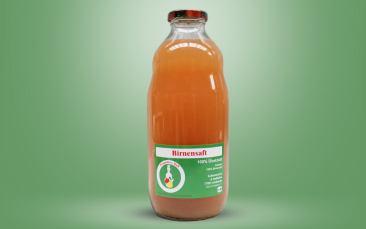 Birnen Direktsaft Flasche