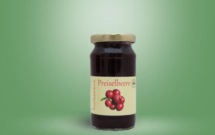 Preiselbeere-Fruchtaufstrich Glas 235g