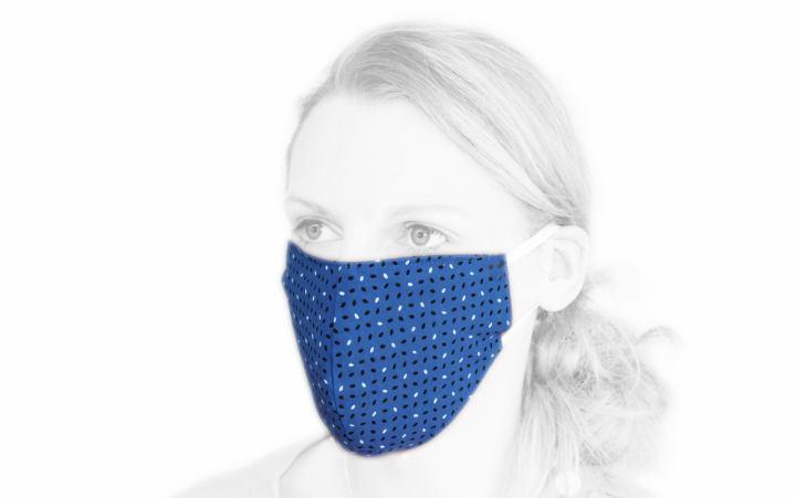 Baumwoll-Behelfs-Maske blau
