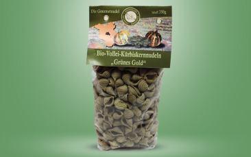 "Bio-Kürbiskernnudeln ""Grünes Gold"" Tüte 350g"