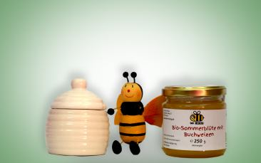 Mittlere Honigdose + Honig 250g
