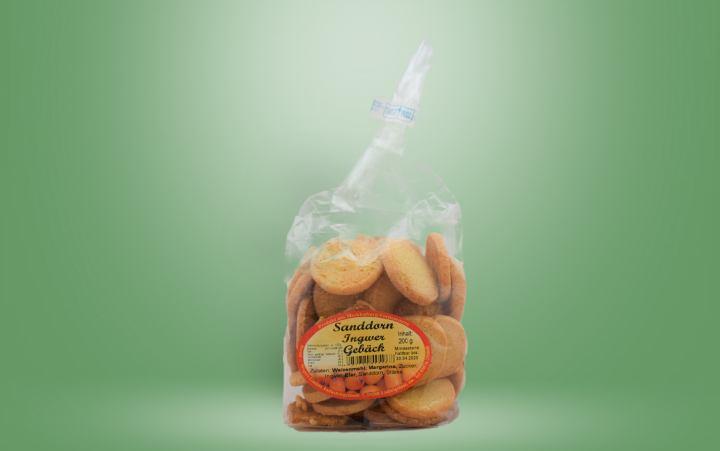 Sanddorn-Ingwer-Gebäck Tüte 200g