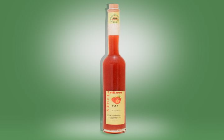Erdbeer-Limes 17%vol Flasche 0,2l