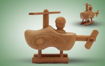 Holzspielzeug Hubschrauber Stück