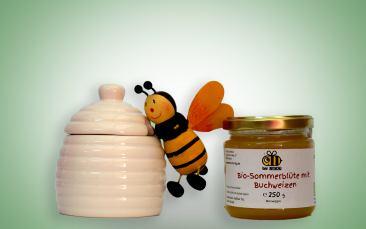 Große Honigdose + Honig 250g
