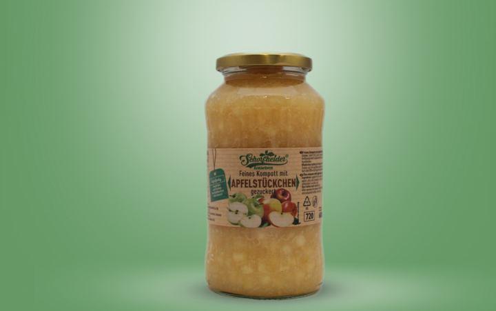 Feine Apfelstücke Glas 680g