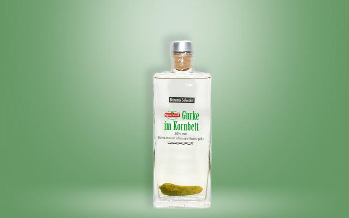 Gurke im Kornbett 30%vol. Flasche 0,2l