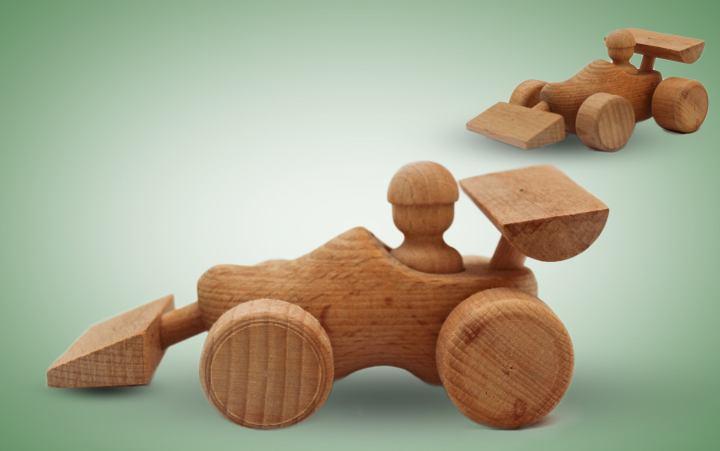Holzspielzeug Race Car Stück