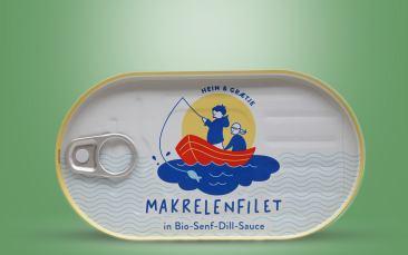 """HEIN & GRÆTJE"" Makrelenfilet in BIO-Senf-Dill Sauce Dose 200g"