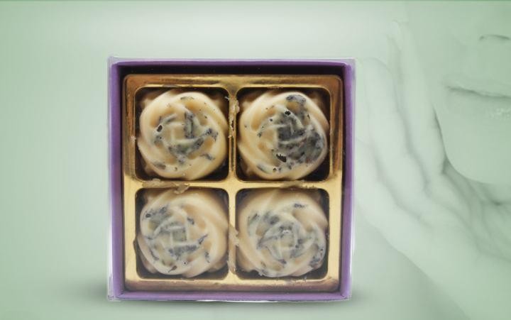 Badepraline Lavendel 4er Pack