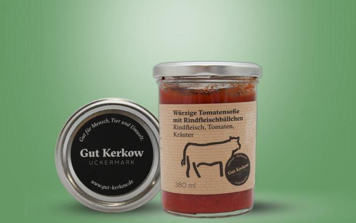 Bio-Rinderfleischbällchen (Kerkow) im Glas 380ml