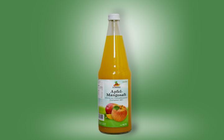 Apfel-Mango-Saft Flasche 0,7l