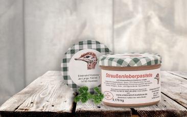 Straußenleberpastete mit Cranberry im Glas 170g