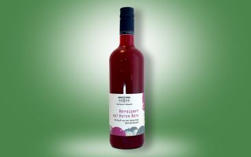 Apfel-Rote-Bete-Saft Flasche