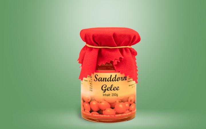 Sanddorn-Gelee Glas 200g