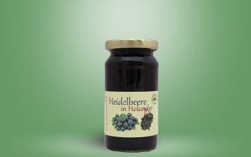 Heidelbeere in Holunder-Fruchtaufstrich Glas 235g