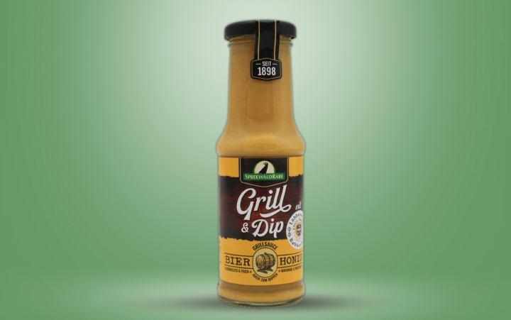 Grill & Dip, Bier-Honig Sauce Flasche 210ml