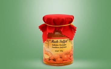 Meck-Toffel- Kartoffel-Sanddorn Aufstrich Glas 195g