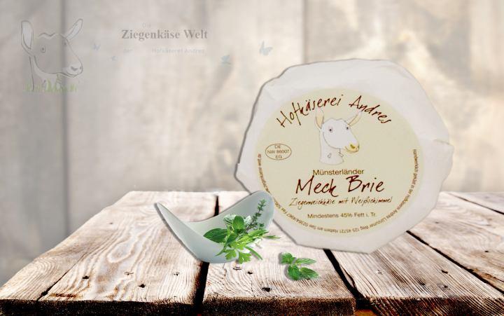 Meck Brie-Ziegenweichkäse-rund Laib ca. 200g