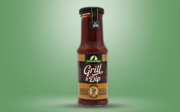 Grill & Dip, Smokey BBQ Sauce Flasche 210ml