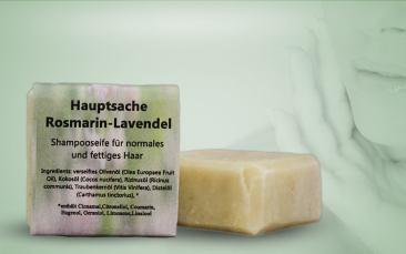 Shampooseife-Rosmarin Lavendel 55g