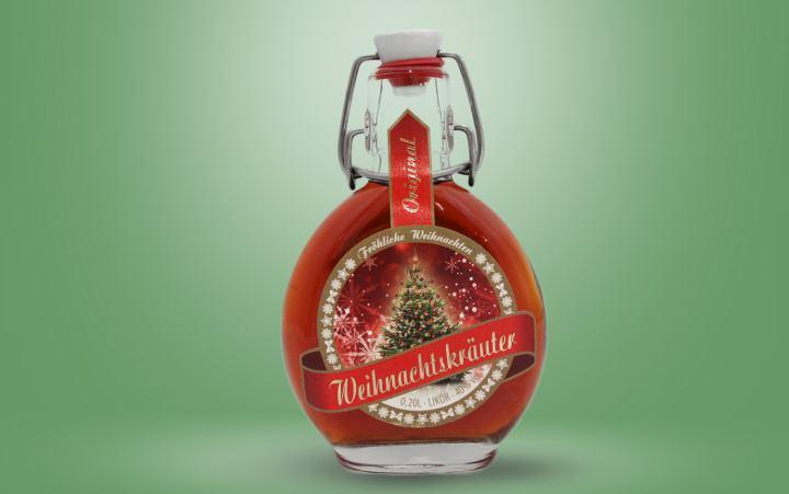 Weihnachtskräuterlikör 40%vol. Flasche 0,2l