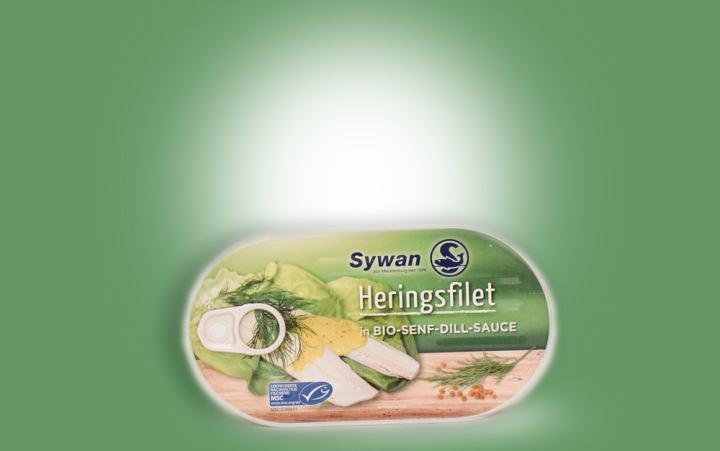 Heringsfilet in Bio-Senf-Dill-Sauce 200g