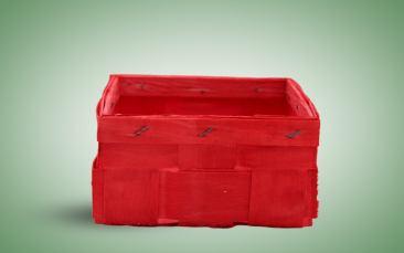Spankorb, quadratisch, rot Stück
