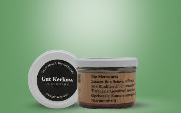 Bio Mettwurst (Kerkow) im Glas 160g