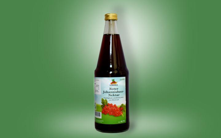 Roter Johannisbeer-Nektar Flasche 0,7l