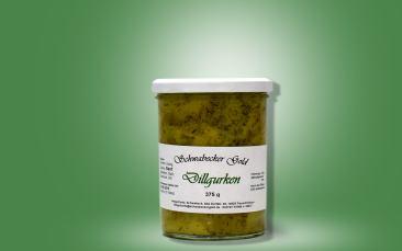 Senfgurken mit Dill Glas 375g