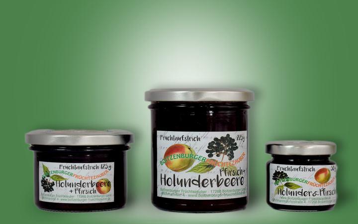 Holunder-Pfirsich-Aufstrich Glas