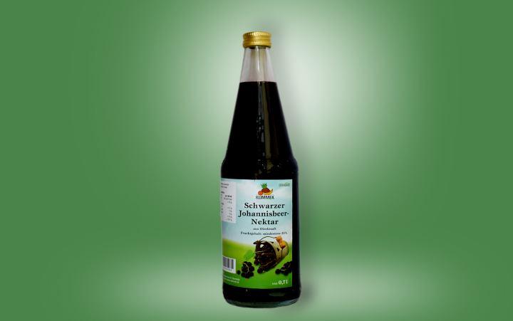 Schwarze Johannisbeere-Nektar 0,7l Flasche