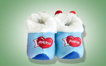 Babypantoffeln blau Paar (Einheitsgröße)