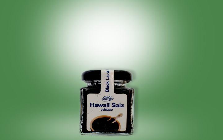 Hawaii Salz schwarz Glas