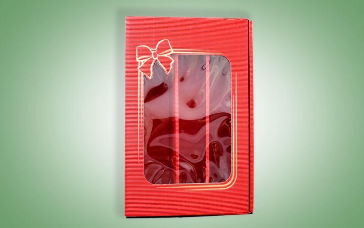Präsentkarton, Rot 3er Wein