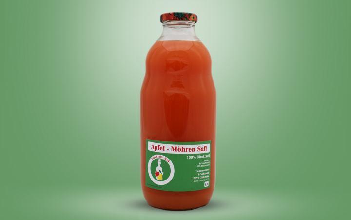 Apfel-Möhren-Direktsaft Flasche