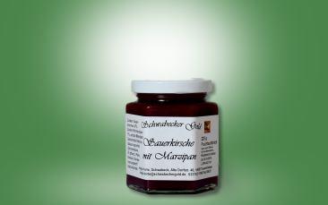 Sauerkirsche-Marzipan Fruchtaufstrich Glas 225g