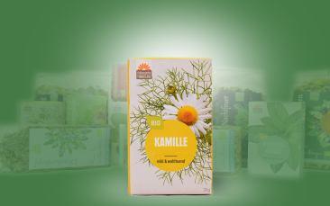 Kamille-Bio-Tee im Kannenbeutel